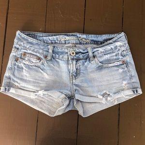 AE ripped jean shorts